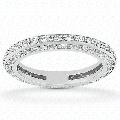 14KP  Round Cut Diamond Unique <br>Engagement Ring 0.91 CT. Eternity Wedding Bands Style