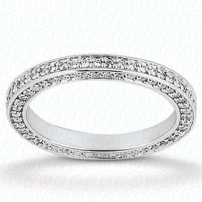14KP  Round Cut Diamond Unique <br>Engagement Ring 0.63 CT. Eternity Wedding Bands Style