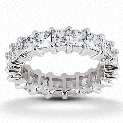 14KP Princess Cut Diamond Unique <br>Engagement Ring 1.68 CT. Eternity Wedding Bands Style