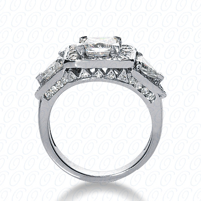 14KP Fancy Cut Diamond Unique <br>Engagement Ring 1.74 CT. Engagement Rings Style