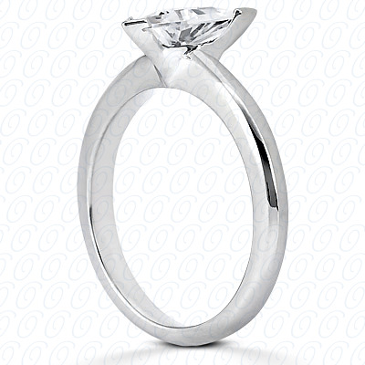 14KW Trillion Cut Diamond Unique Engagement Ring 0.00 CT. Solitaires Style