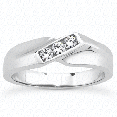 14KP Round Cut Diamond Unique <br>Engagement Ring 0.21 CT. Wedding Band Sets Style