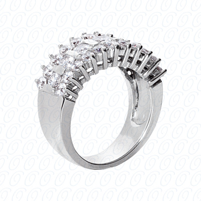 14KP Fancy Rings Cut Diamond Unique <br>Engagement Ring 1.89 CT. Fancy Rings Style