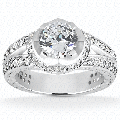 14KP Fancy Cut Diamond Unique <br>Engagement Ring 0.78 CT. Engagement Rings Style