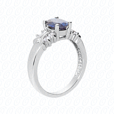 14KP Fancy Rings Cut Diamond Unique <br>Engagement Ring 0.24 CT. Fancy Rings Style