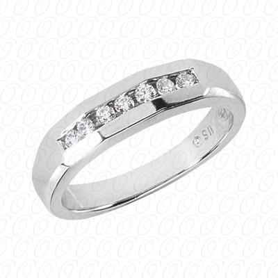 14KP Wedding Bands 0.21 CT. Mens Rings