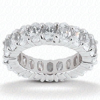 14KP Oval 4.20 CT. Eternity Wedding Bands