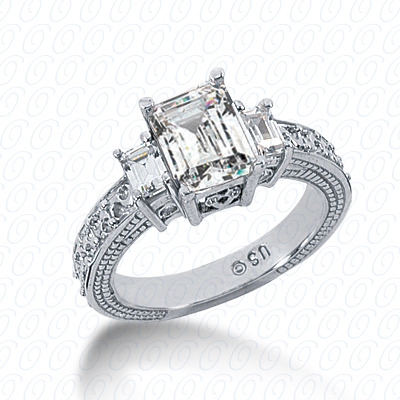 14KP Antique Cut Diamond Unique <br>Engagement Ring 0.89 CT. Engagement Rings Style