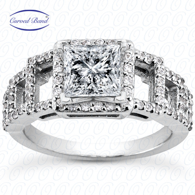 14KP Halo Petite  Cut Diamond Unique <br>Engagement Ring 0.40 CT. Petite Style