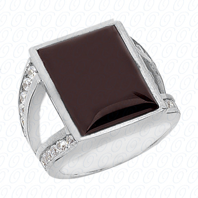 14KP Combination Cut Diamond Unique <br>Engagement Ring 0.72 CT. Color Stone Rings Style
