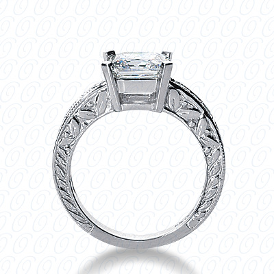14KW Fancy Cut Diamond Unique Engagement Ring 0.18 CT. Engagement Rings Style