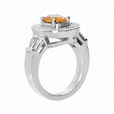 14KP Fancy Rings Cut Diamond Unique <br>Engagement Ring 0.91 CT. Fancy Rings Style