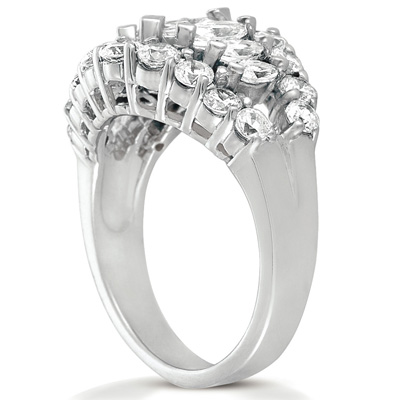 14KW Mq+Rd Cut Diamond Unique Engagement Ring 2.01 CT. Combinations Style