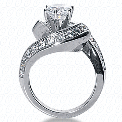 14KP Fancy Cut Diamond Unique <br>Engagement Ring 1.46 CT. Engagement Rings Style