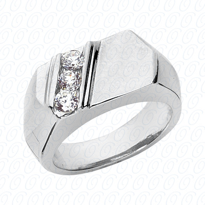 14KP Fancy Styles Cut Diamond Unique Engagement Ring 0.45 CT. Mens Rings Style