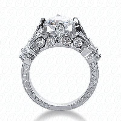 14KP Fancy Cut Diamond Unique <br>Engagement Ring 0.62 CT. Engagement Rings Style