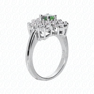 14KP Fancy Rings Cut Diamond Unique <br>Engagement Ring 1.22 CT. Fancy Rings Style