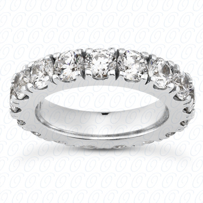 14KP  Round Cut Diamond Unique <br>Engagement Ring 3.20 CT. Eternity Wedding Bands Style