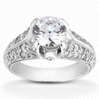 14KP Fancy Cut Diamond Unique <br>Engagement Ring 0.40 CT. Engagement Rings Style