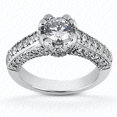 14KP Fancy Cut Diamond Unique <br>Engagement Ring 0.34 CT. Engagement Rings Style