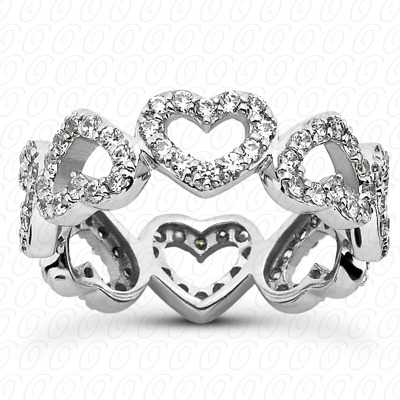 14KP  Round Cut Diamond Unique <br>Engagement Ring 1.44 CT. Eternity Wedding Bands Style