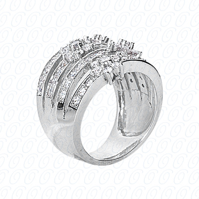 14KP Fancy Rings Cut Diamond Unique <br>Engagement Ring 1.19 CT. Fancy Rings Style