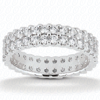 14KP  Round Cut Diamond Unique <br>Engagement Ring 3.80 CT. Eternity Wedding Bands Style