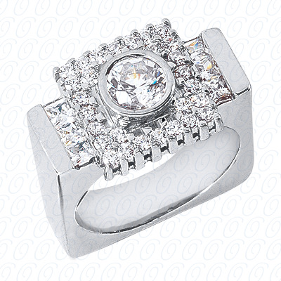 14KP Fancy Styles Cut Diamond Unique Engagement Ring 1.30 CT. Mens Rings Style