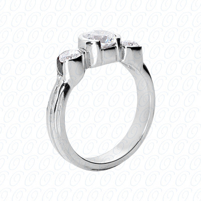 14KP Fancy Rings Cut Diamond Unique <br>Engagement Ring 0.40 CT. Fancy Rings Style