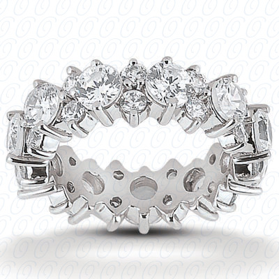 14KP  Round Cut Diamond Unique <br>Engagement Ring 2.75 CT. Eternity Wedding Bands Style