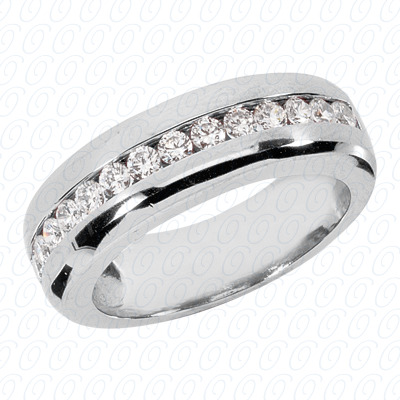 14KP Round Cut Diamond Unique <br>Engagement Ring 0.98 CT. Wedding Band Sets Style