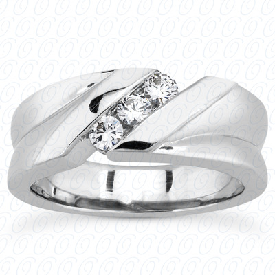 14KP Round Cut Diamond Unique <br>Engagement Ring 0.30 CT. Wedding Band Sets Style