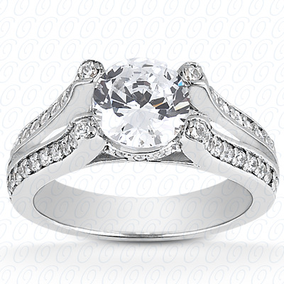 14KP Fancy Cut Diamond Unique <br>Engagement Ring 0.35 CT. Engagement Rings Style