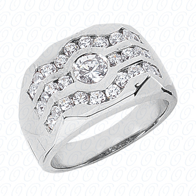 14KW Fancy Styles Cut Diamond Unique Engagement Ring 0.84 CT. Mens Rings Style
