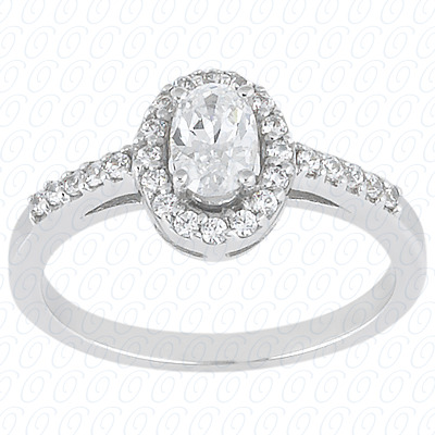 14KP Oval 0.26 CT. Halo