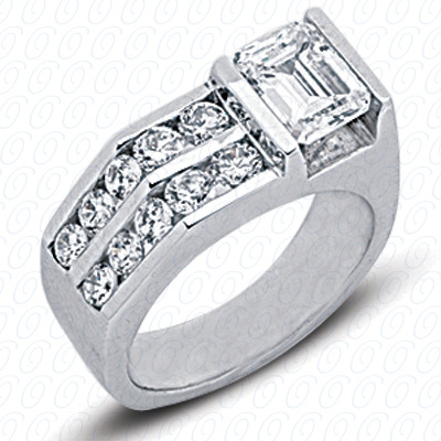 14KP Fancy Rings Cut Diamond Unique <br>Engagement Ring 0.80 CT. Fancy Rings Style