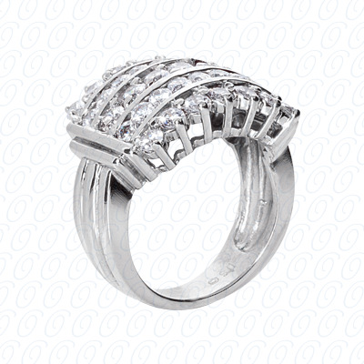14KP Fancy Rings Cut Diamond Unique <br>Engagement Ring 2.34 CT. Fancy Rings Style