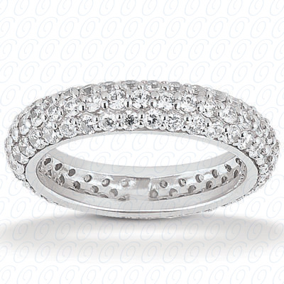 14KP  Round Cut Diamond Unique <br>Engagement Ring 0.93 CT. Eternity Wedding Bands Style