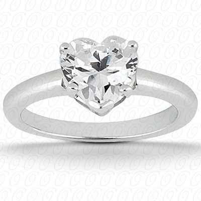 PLAT Heart Cut Diamond Unique Engagement Ring