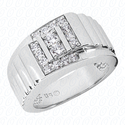 14KP Fancy Styles Cut Diamond Unique Engagement Ring 0.62 CT. Mens Rings Style