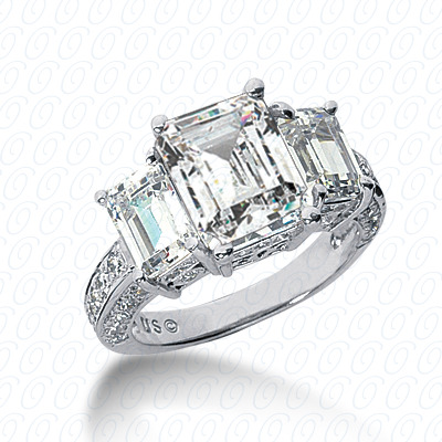 14KW Antique Cut Diamond Unique Engagement Ring 0.57 CT. Engagement Rings Style