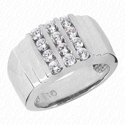 14KP Fancy Styles Cut Diamond Unique Engagement Ring 1.20 CT. Mens Rings Style