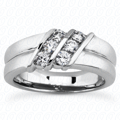 14KP Round Cut Diamond Unique <br>Engagement Ring 0.48 CT. Wedding Band Sets Style