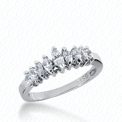 14KP Marquise Cut Diamond Unique <br>Engagement Ring 0.63 CT. Wedding Bands Style
