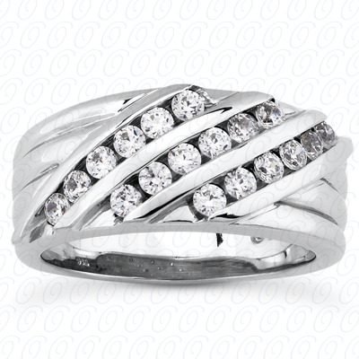 14KP Round Cut Diamond Unique <br>Engagement Ring 0.72 CT. Wedding Band Sets Style