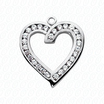 14KW Hearts Cut Diamond Unique Engagement Ring 0.55 CT. Pendants Style