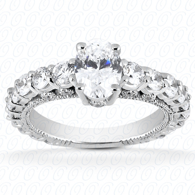 14KP Fancy Cut Diamond Unique <br>Engagement Ring 1.19 CT. Engagement Rings Style