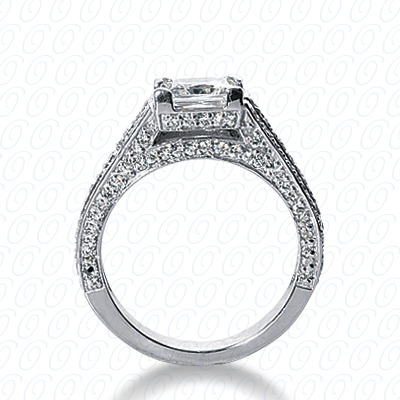 14KP Fancy Cut Diamond Unique <br>Engagement Ring 0.73 CT. Engagement Rings Style