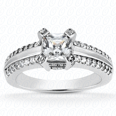 14KP Fancy Cut Diamond Unique <br>Engagement Ring 0.39 CT. Engagement Rings Style
