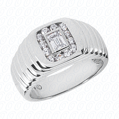 14KP Fancy Styles Cut Diamond Unique Engagement Ring 0.71 CT. Mens Rings Style